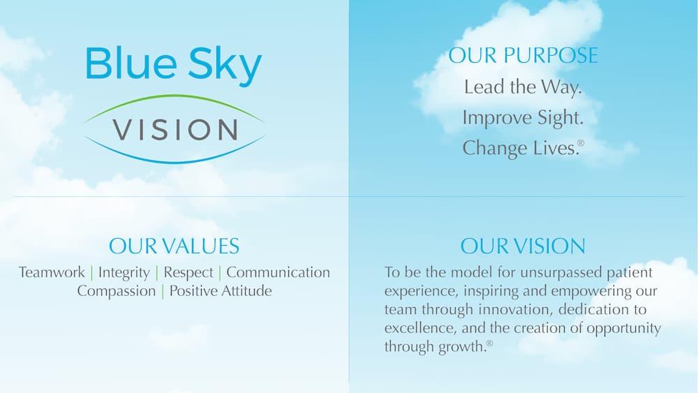Blue Sky Vision Chart